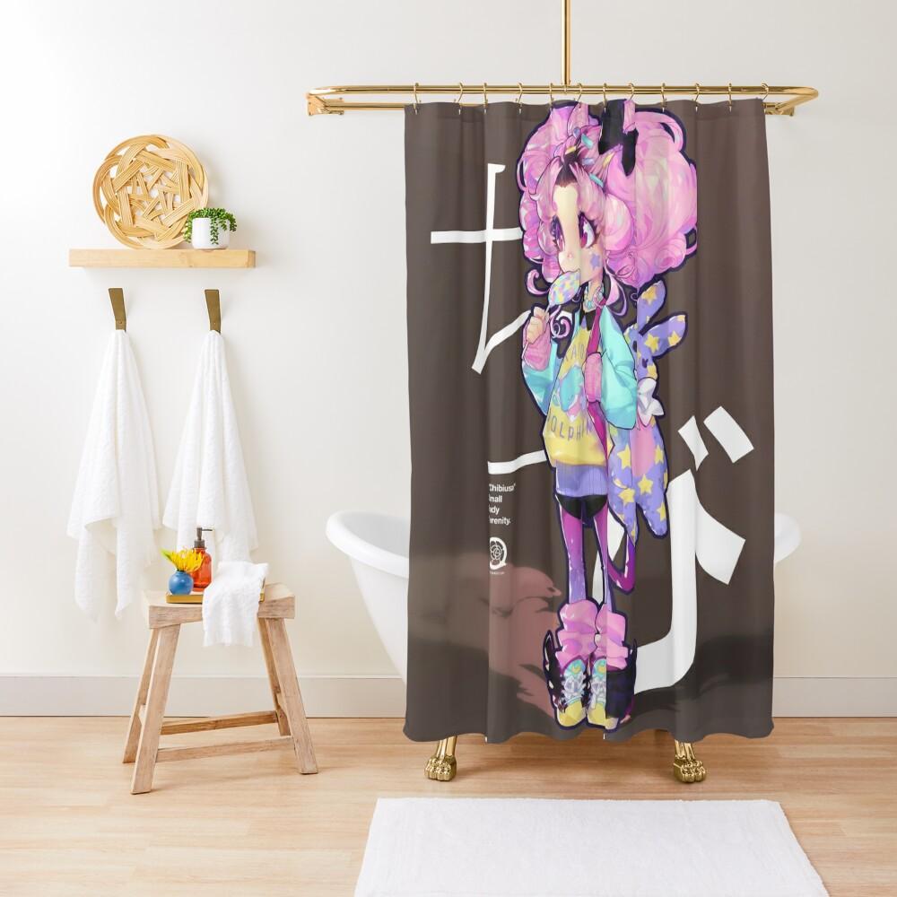 chibi Shower Curtain