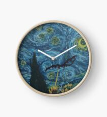 I See Fire In The Starry Night Clock