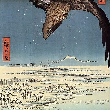 Eagle Over The Lowlands Near Susaki by Utagawa Hiroshige (Reproduction) by RozAbellera