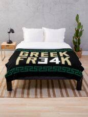 Greek Fr34k 3 Throw Blanket