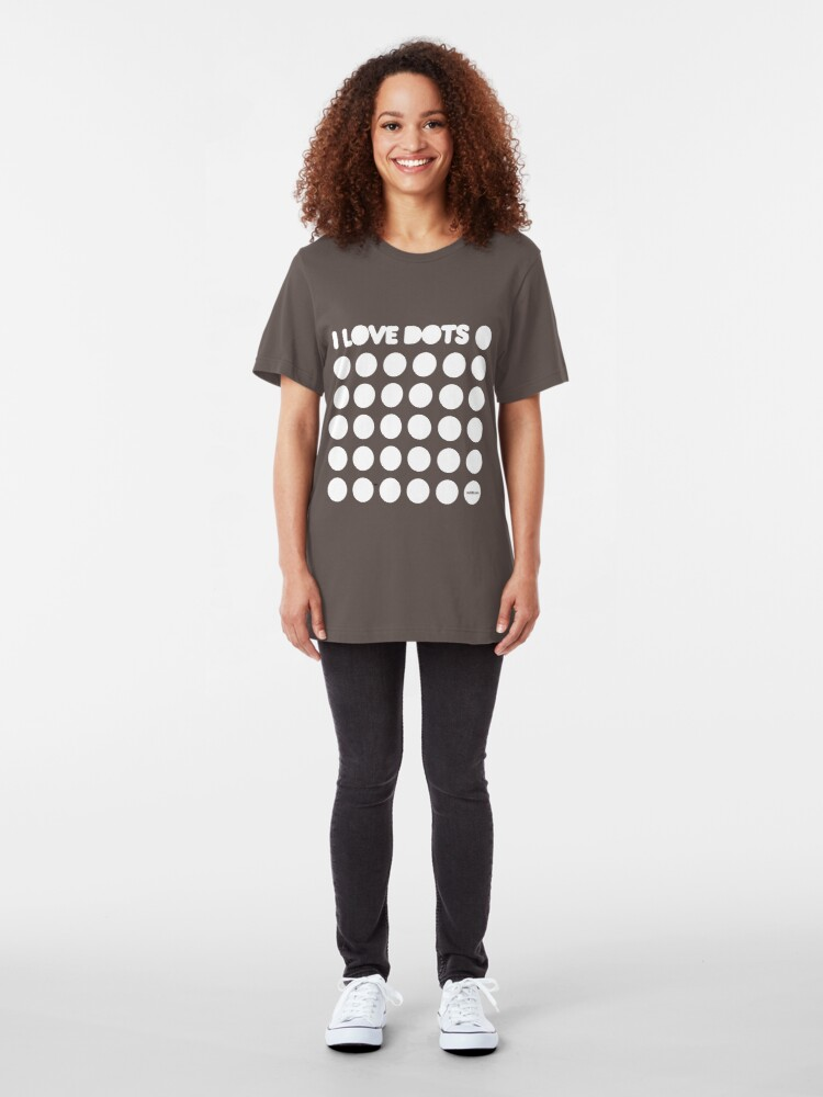 Alternate view of I love dots Slim Fit T-Shirt