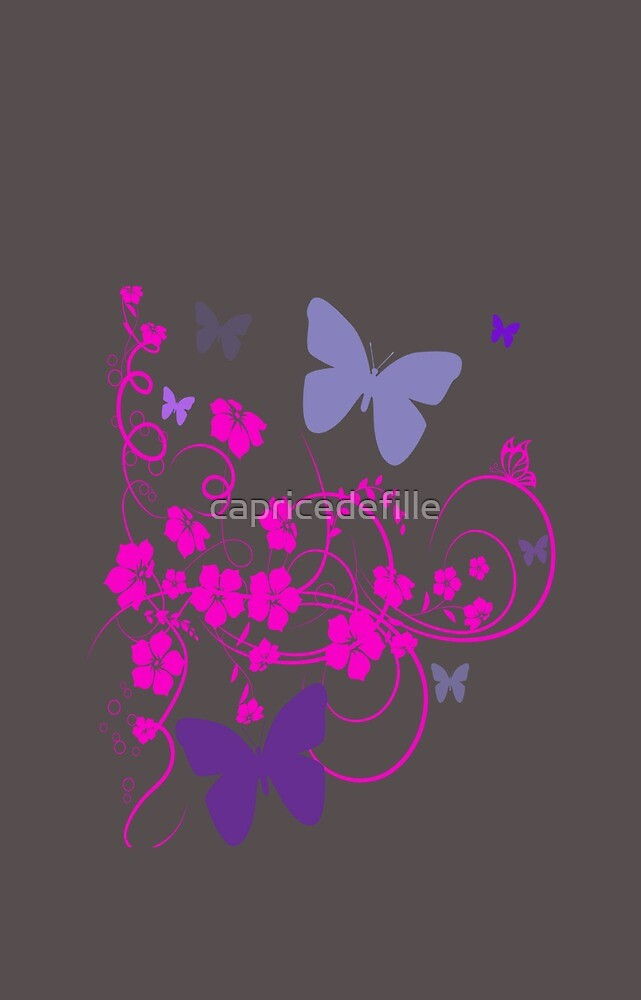 Flowers & butterflyers by capricedefille