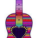 Boho Style Guitar by CheriesArt