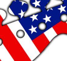 American Bass Guitar flag Sticker