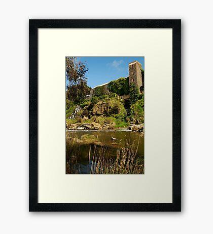 Buckley Falls Geelong. Framed Print