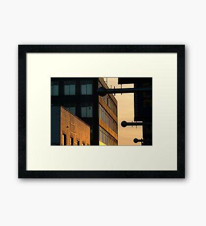 Sundown,Lt Ryrie St Geelong Framed Print