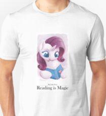 Reading is Magic: Rarity Unisex T-Shirt