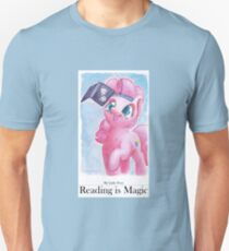 Reading is Magic: Pinkie Pie Unisex T-Shirt