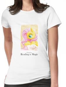 Reading is Magic: Fluttershy Womens Fitted T-Shirt