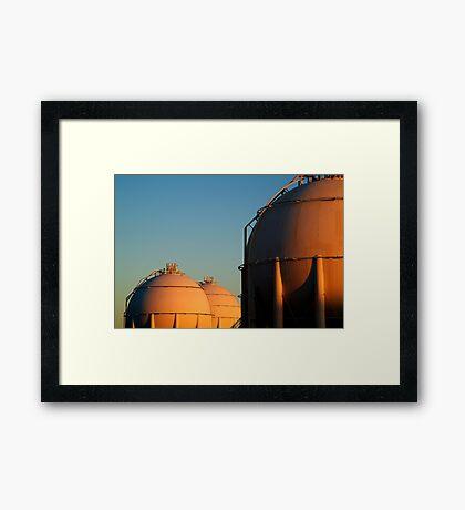 Industrail, Fuel Storage Tanks,Geelong Framed Print