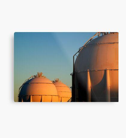 Industrail, Fuel Storage Tanks,Geelong Metal Print