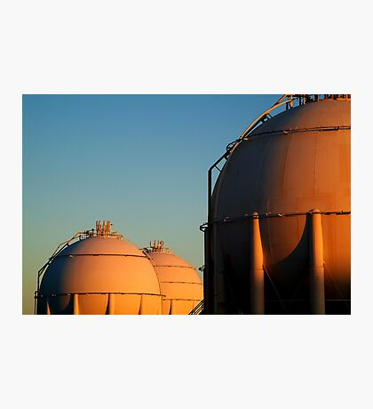 Industrail, Fuel Storage Tanks,Geelong Photographic Print