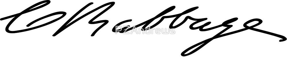 Signature of Charles Babbage by PZAndrews