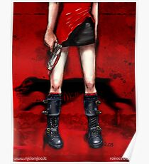 Red Dress & Zombie Dog Poster