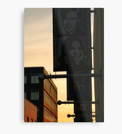 Back Alley,Movie Theatre Banners,Geelong Metal Print