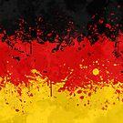 «Bandera de Alemania Acción Pintura - Grunge Desordenado» de Garyck Arntzen