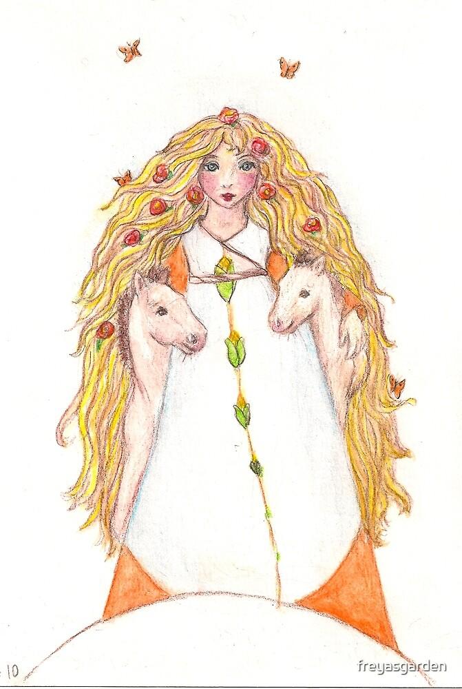 epona celtic horse goddess by freyasgarden