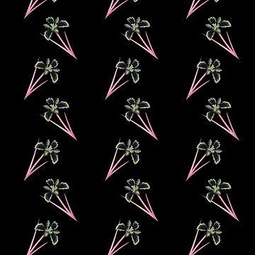 Flowers on Black Pattern by deecdee