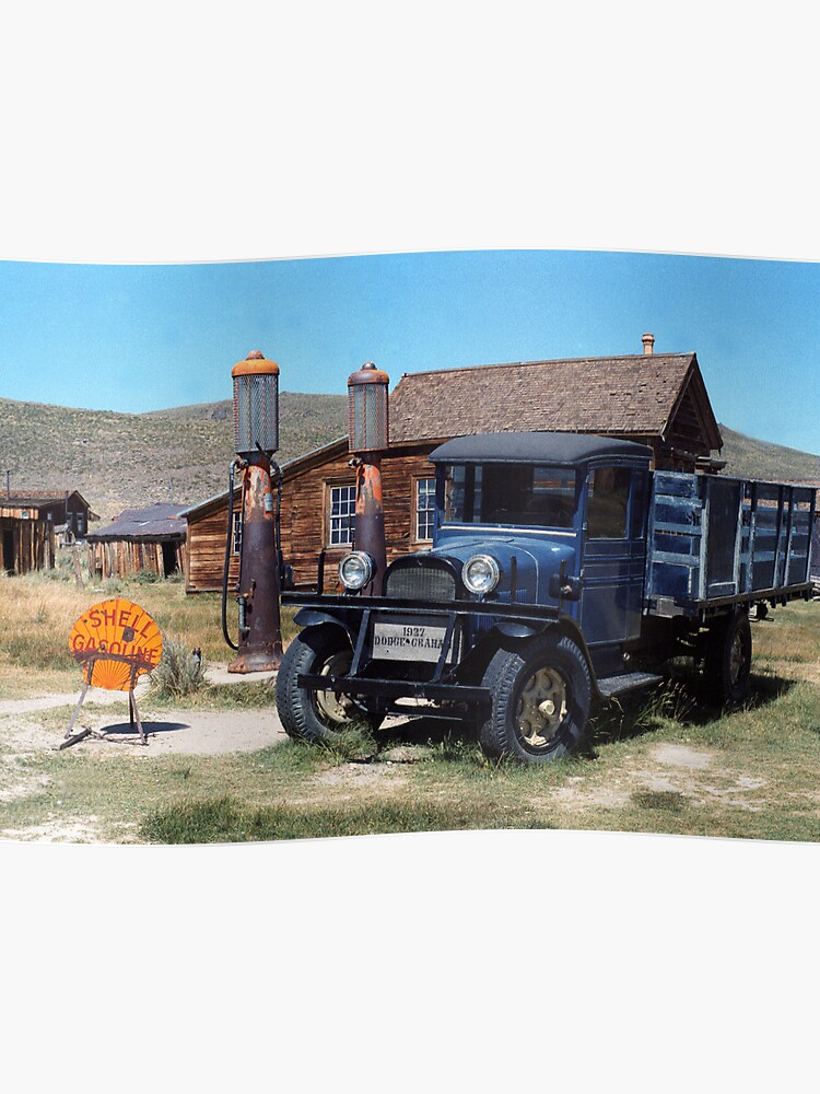 Old Dodge Trucks >> Old Dodge Truck And Gas Station In Bode Nevada Poster By Arboy28