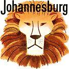 «Calcomanía de viaje de Johannesburg Lion Vintage» de hilda74