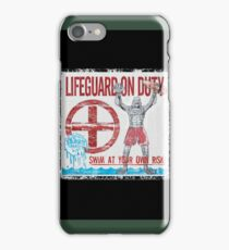 The Lifeguard Creature Is On Duty (2) iPhone Case/Skin