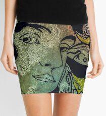 Mucha appreciated distressed art Mini Skirt