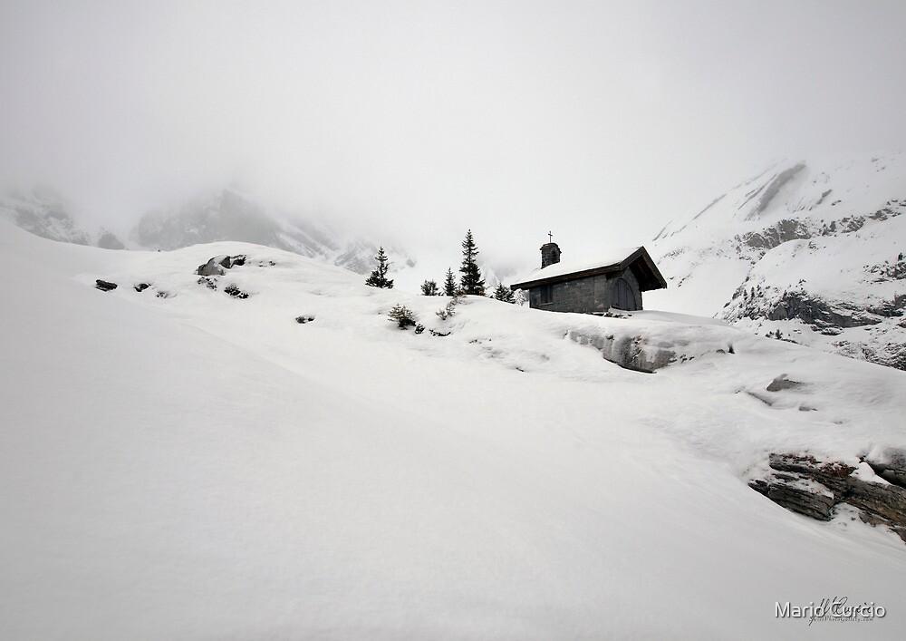 Little chapel in the snow by Mario Curcio