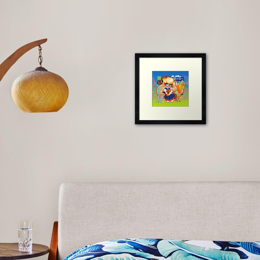 v soba Framed Art Print