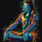 Eternal Lord Shiva in Meditation by A little more Whirl
