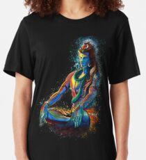 Eternal Lord Shiva in Meditation Slim Fit T-Shirt
