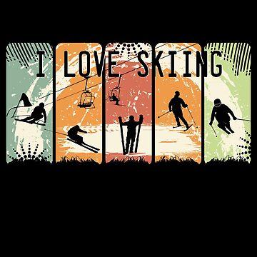 Ich liebe Skifahren von S-p-a-c-e
