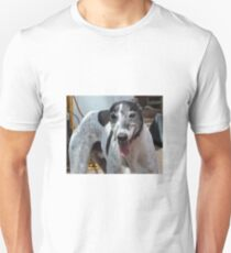 Tom a rescue greyhound Unisex T-Shirt