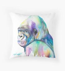 Leichter riesiger Regenbogen-Gorilla Dekokissen
