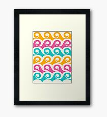 Bright Tropical Wave Pattern Framed Print