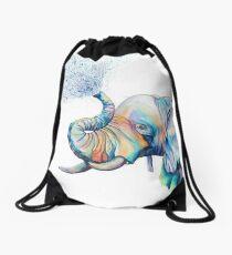 Unpacking The Trunk Rainbow Elephant Drawstring Bag