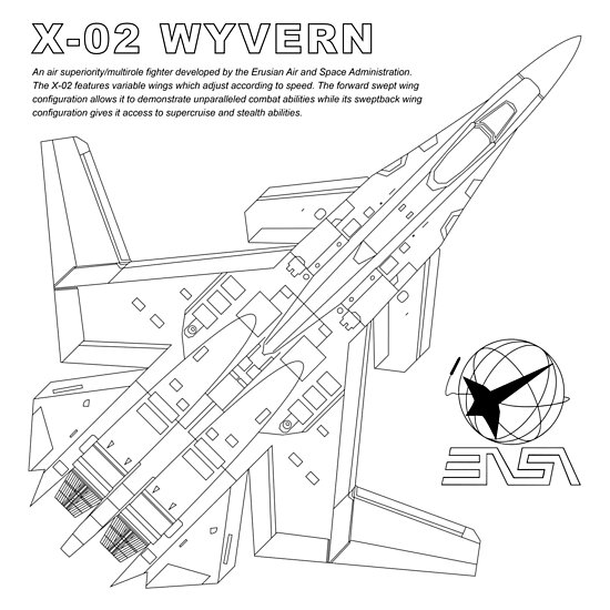 Ace Combat Easa X 02 Wyvern Blueprint Posters By Fei Corp