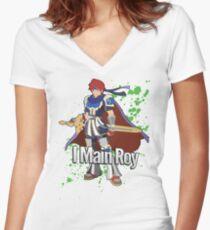 I Main Roy - Super Smash Bros. Women's Fitted V-Neck T-Shirt