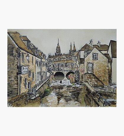 Bayeux (in coffee) Photographic Print