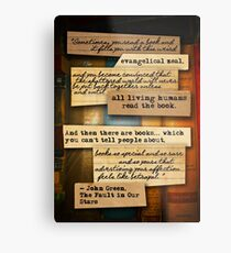 Thoughts from Books Metal Print