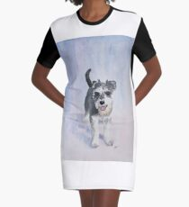 Dexter the Schnauzer Graphic T-Shirt Dress