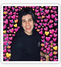 david dobrik with hearts Sticker