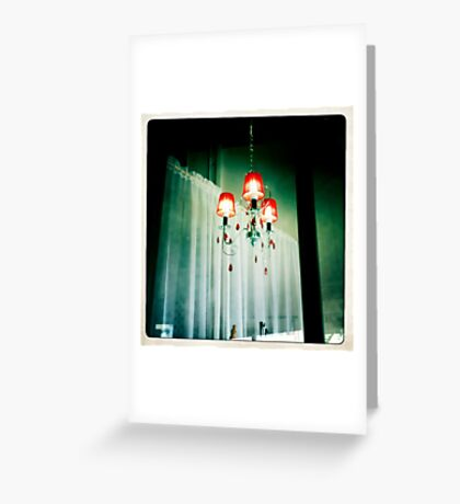 Red Lamps Greeting Card