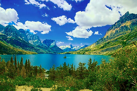 Lake Saint Mary,  Glacier National Park, Montana by Marion Daly