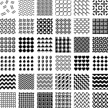 Black & White Pattern by Connorlikepie