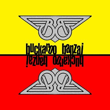 Buckaroo Banzai Winged B Yellow and Red by Hedrin