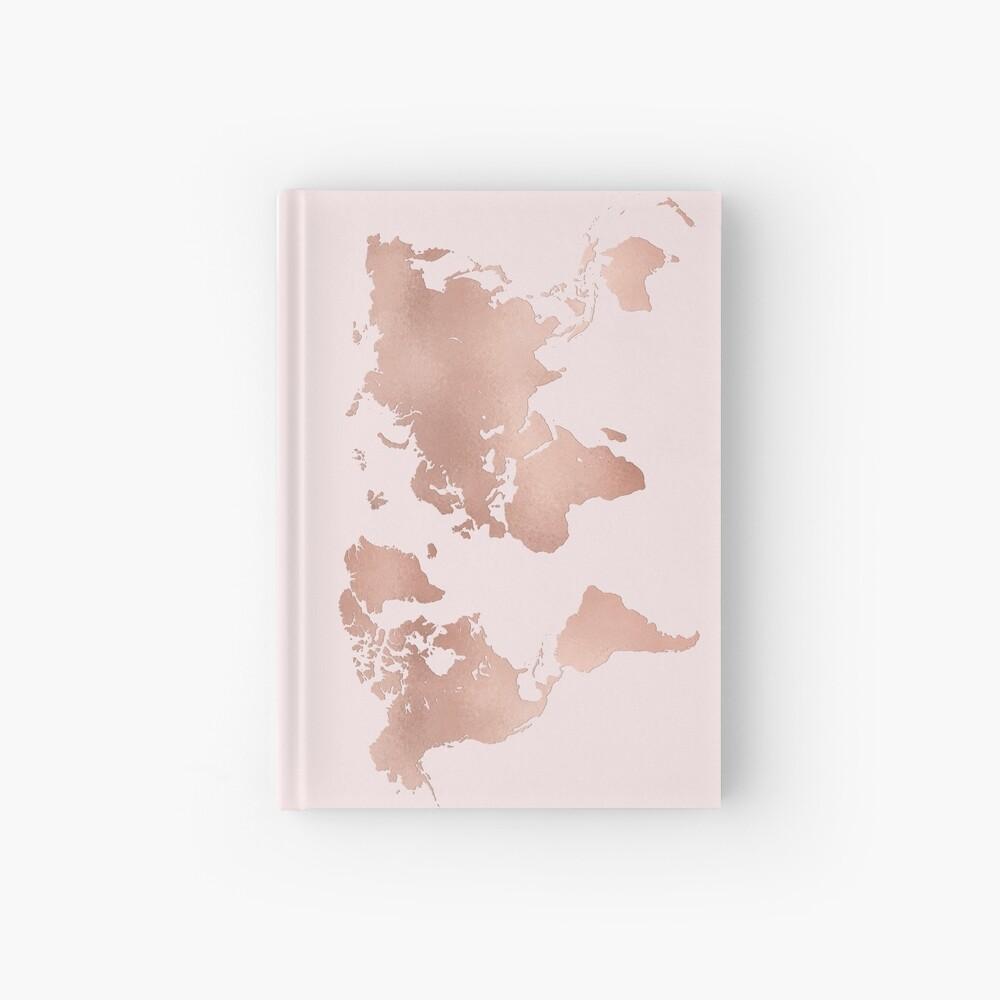 Rose Gold Weltkarte Notizbuch