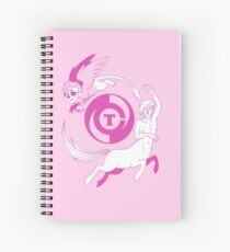Conjectural Mythology-- Pink Spiral Notebook