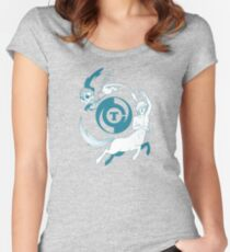 Conjectural Mythology-- Blue Women's Fitted Scoop T-Shirt