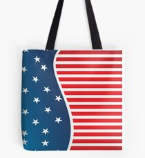 Patriotic Red and Blue American Stars and Stripes Tote Bag