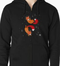 Space Foxes Zipped Hoodie